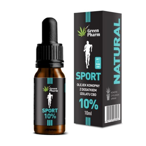 Olejek konopny CBD 10% Sport Pure Isolate 10ml