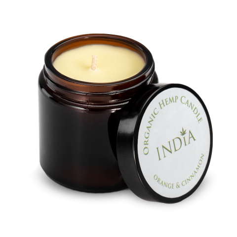 India Cosmetics Świeca konopna 90g